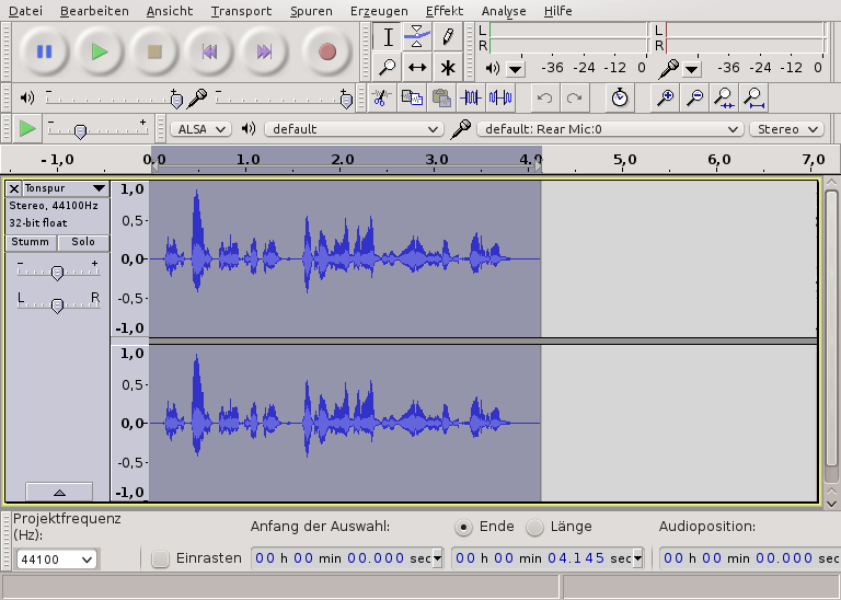 Audacity JooWI Video Sprache