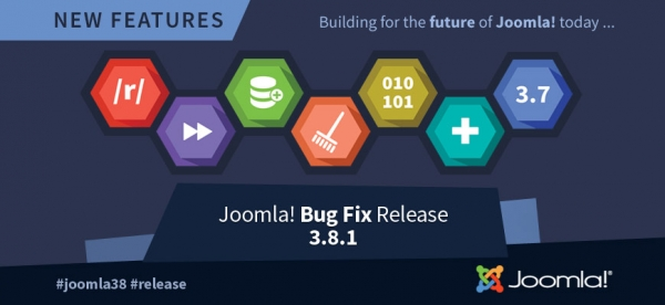 Neues Joomla Core 3.8.1 Update